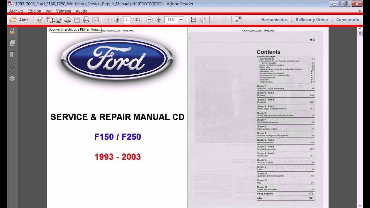 medium resolution of manuales pdf ford f150 1993 a 2003