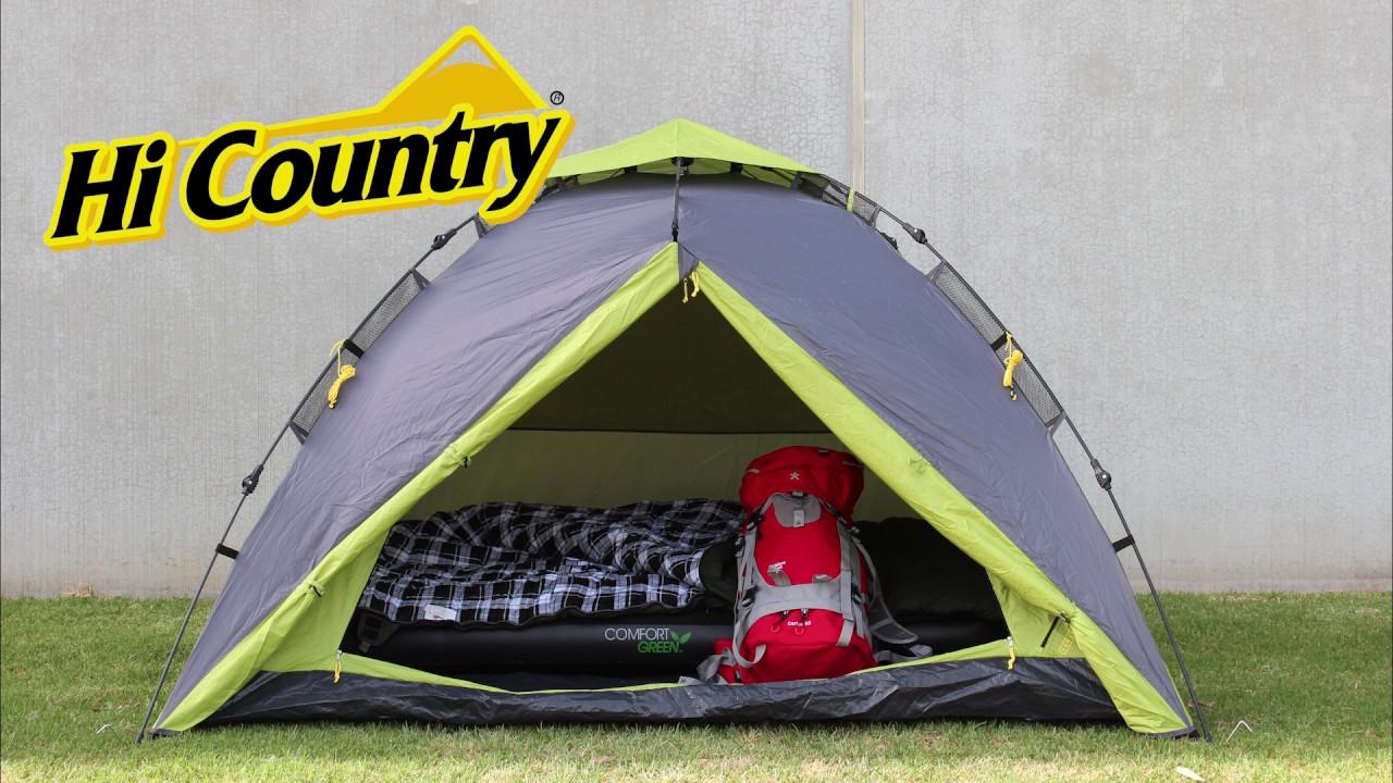 Aussie Disposals 3P Dome Pop-up Tent & Aussie Disposals 3P Dome Pop-up Tent - YouTube