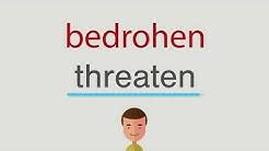 Wie heißt bedrohen auf englisch