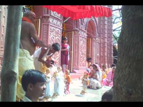 নন্দীগ্রমে জানকিনাথ মন্দিরে রামনবমী পুজো। Nandigram Ramnabami at Janakinath temple.