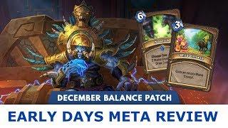 Early Days Meta Review | December Patch Meta | Hearthstone | [Rastakhan