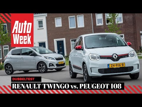 Renault Twingo vs. Peugeot 108 - AutoWeek Dubbeltest - English subtitles