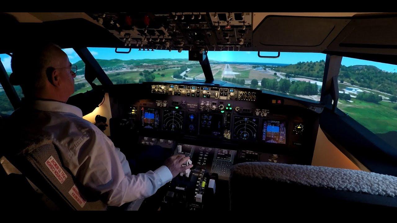 Approach and Landing Rwy20 AJACCIO (LFKJ) - Boeing 737 Flight Simulator