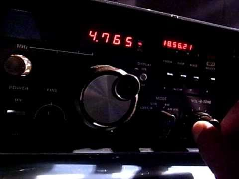 Yaesu FRG-7000 4765kHz Radio Tajikistan received in Japan