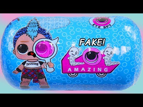 FAKE or REAL BOY LOL Surprise Doll  #Hairgoals Series 5 Blind Bags Under Wraps