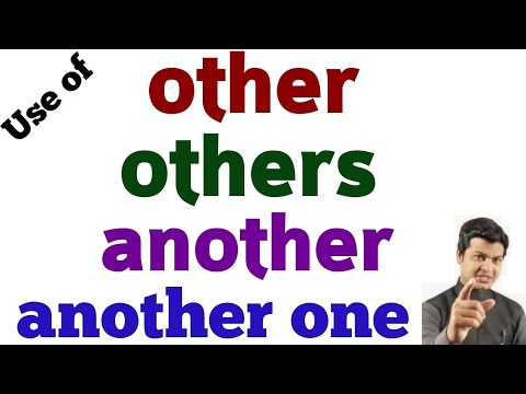 Download use of another, other, others & another one   how to learn other & others in English Grammar by Alam