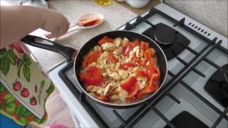 Жаренная брынза с адыгейским сыром и овощами рецепт