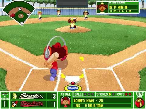 lets play backyard baseball pc 1997 part 21 go go gadget