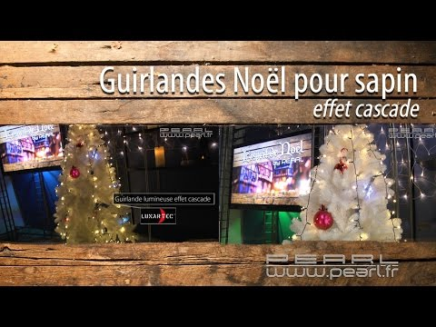 GUIRLANDE LUMINEUSE LED pour sapin effet cascade [PEARLTV FR