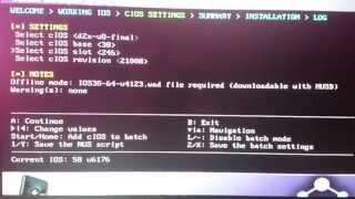 example of installation cios d2x v8
