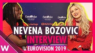 Nevena Bozovic (Serbia) interview @ Eurovision 2019 second rehearsal
