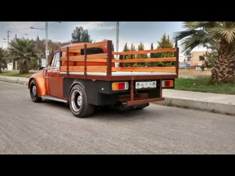 Vw Sedan vocho convertido a pickup, fusca, bocho, troca - YouTube