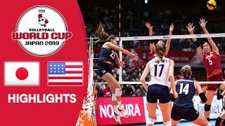 JAPAN vs. USA - Highlights | Women's Volleyball World Cup 2019