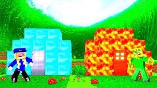 DIAMANT HAUS vs. LAVA HAUS - Minecraft TSUNAMI