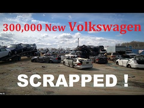 NEW  VW Diesel Cars Being Scrapped At The Junkyard In Montreal, Canada