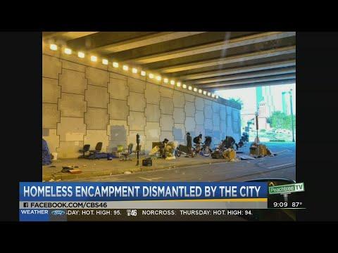 Homeless Encampment Dismantled By City Of Atlanta