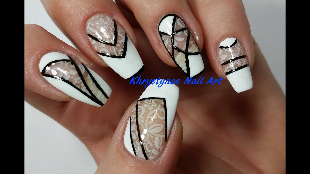 Negative Space Nail Art | Monochrome (Perfect for Short Nails 2 ...
