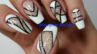 Negative Space Nail Art | Monochrome (Perfect for Short Nails 2)