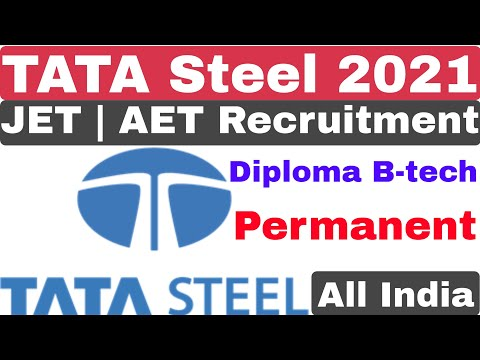 TATA Steel Junior Engineer Trainee JET | AET Recruitment 2021 | Diploma B-tech