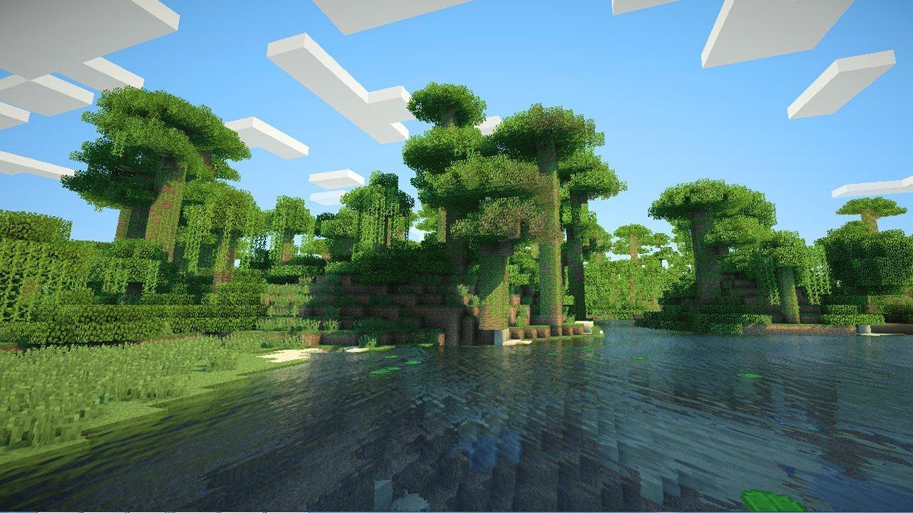 Minecraft 3d Live Wallpaper La Belleza De Minecraft Shaders Mod 1 3 2 Youtube