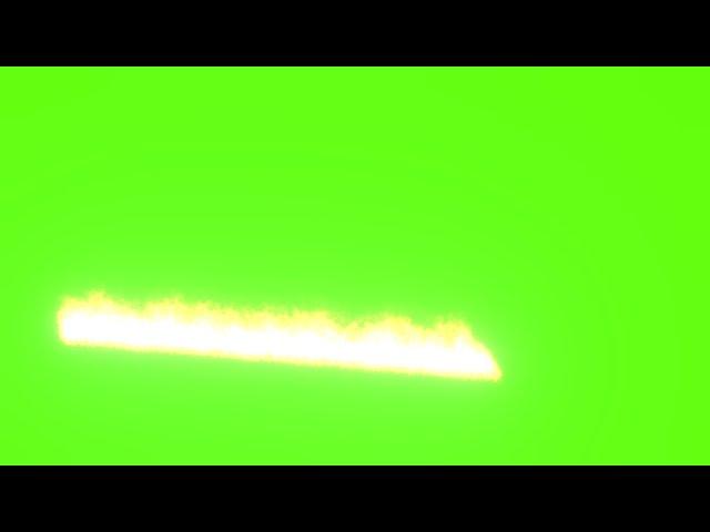 Anime free green screen vfx fire trail 3d animation cartoon 4K hd
