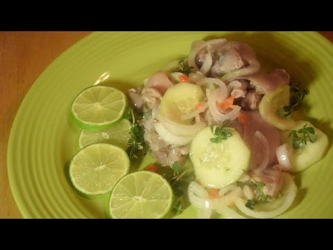 How to Make Pickled Pigs Feet  Sao Saus Panamanian Style.