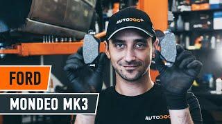 Remove Brake pad set FORD - video tutorial