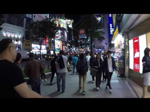 Shibuya Crossing at night in Tokyo Japan 4k
