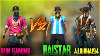 [Fake]RAISTAR VS RUN OUT ARUN || AJJUBHAI94,RAISTER VS RUN GAMING || FREE FIRE TRICKS AND TIPS TAMIL