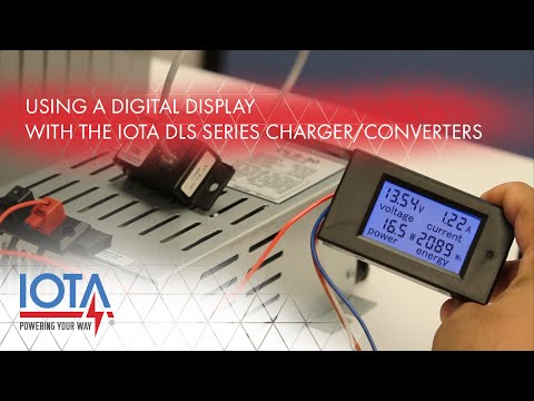 Using a Digital Display with an IOTA DLS Charger / Converter