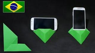 Origami: Base dobrável para Smartphone ( Wellington W ) - Instruções em Português PT BR