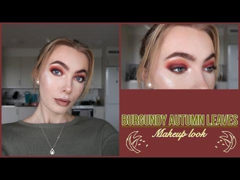 BURGUNDY AUTUMN LEAVES LOOK | Fall makeup tutorial thumbnail