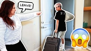 Telling faze rugs friend to leave our house!