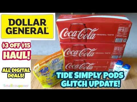 Dollar General $3 Off $15 Haul! All Digital Deals!