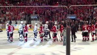 2015 Stanley Cup: Final minute & hand shake of Game 6  Blackhawks vs Lightning
