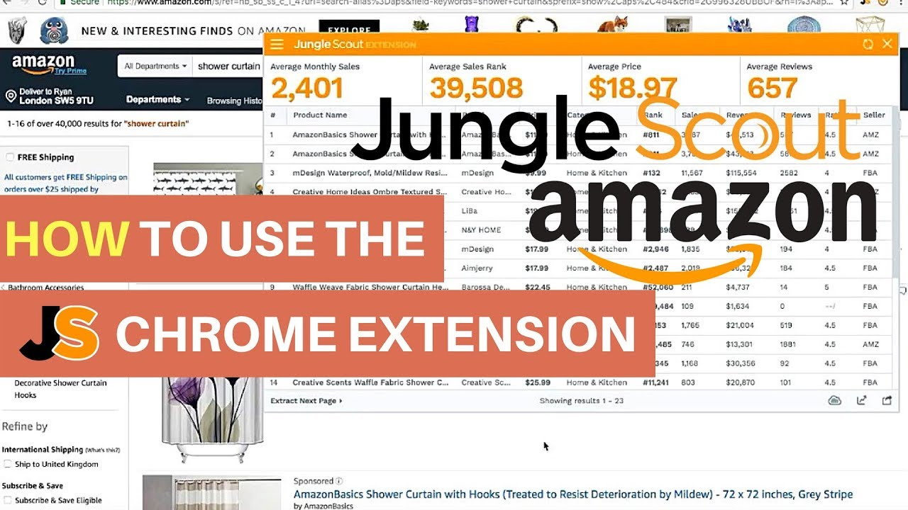 how to use jungle scout chrome extension