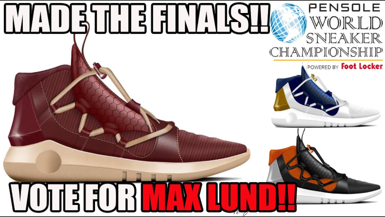 3583529708c71 He Made The Finals! Please Vote Maxwell Lund!! World Sneaker Championship  Design Contest