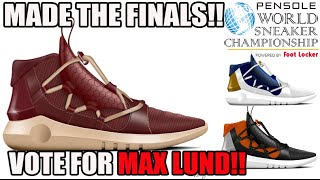 d6bbc29d7acc2 Please Vote Maxwell Lund!! World Sneaker Championship Design Contest  WSC  2017 PENSOLE ...