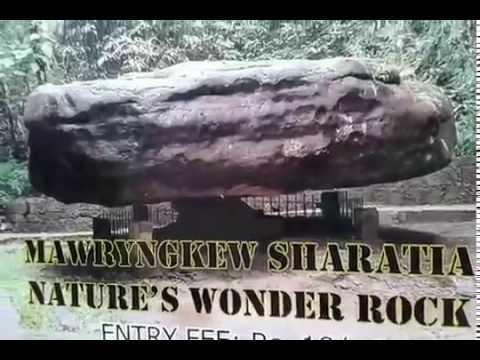 Balancing Rock Mawlynnong - Mawryngkew Sharatia Nature's Wonder Rock in Meghalaya
