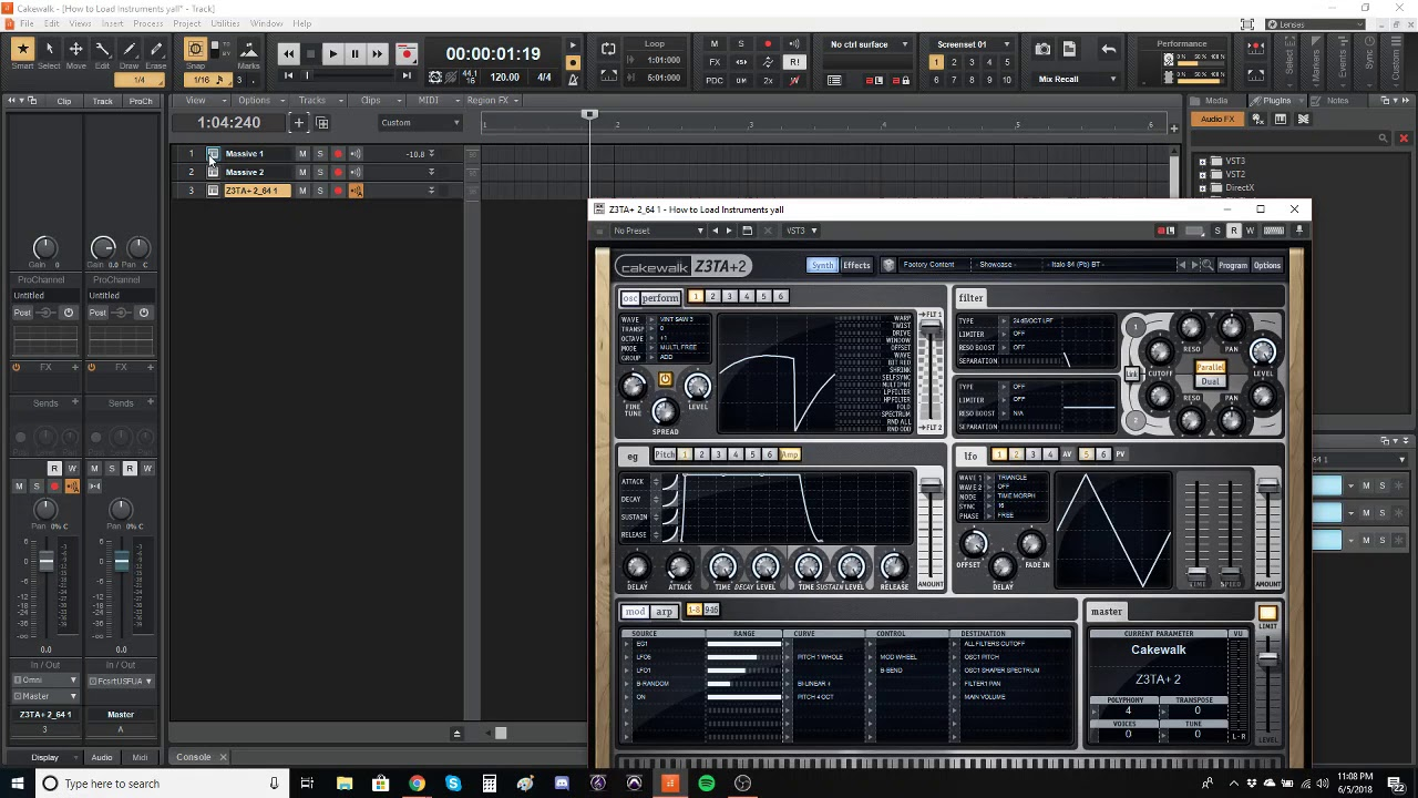 How to Load a Synthesizer or Virtual Instrument in Cakewalk by Bandlab