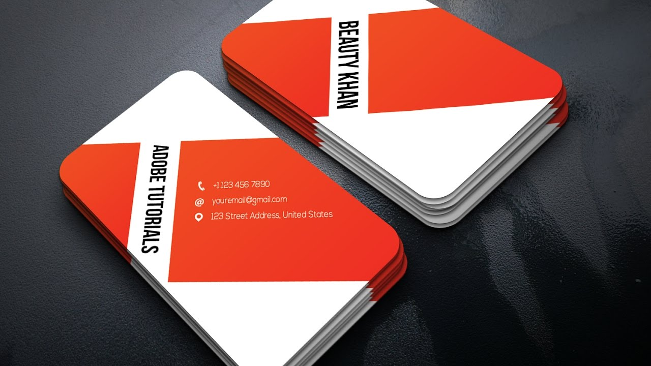 Tutorial | Business Card Design in Adobe illustrator | Easy ...