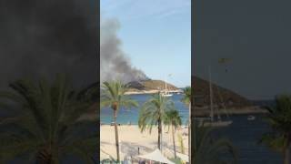 Fire Helicopters Fight Magaluf Blaze