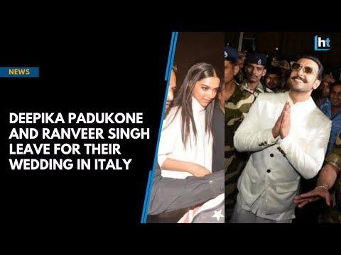 Deepika Padukone and Ranveer Singh leave for their wedding in Italy Mp3