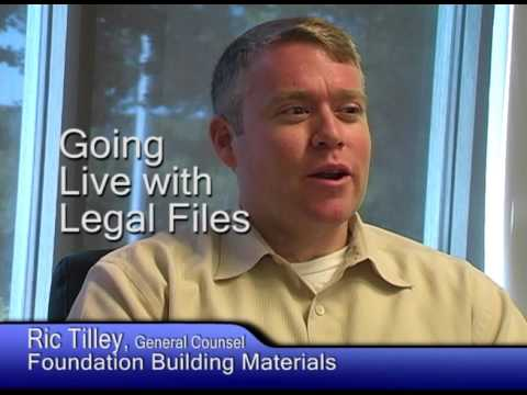 Foundation Building Materials chooses Legal Files Software for legal matter and contract management