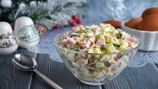 Салат ветчина яйца огурец сыр