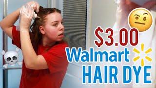 I USED 3 DOLLAR HAIR DYE FROM WALMART | Revlon Box Dye At Home