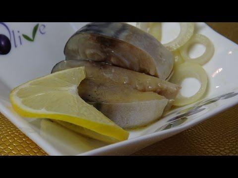 Как засолить скумбрию в горчичном соусе
