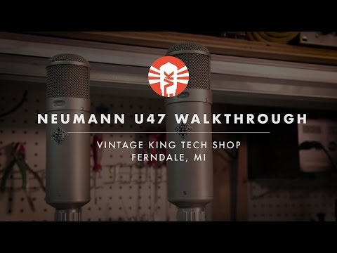 A Look At A Historic Pair Of Neumann U47 Microphones From Vintage King
