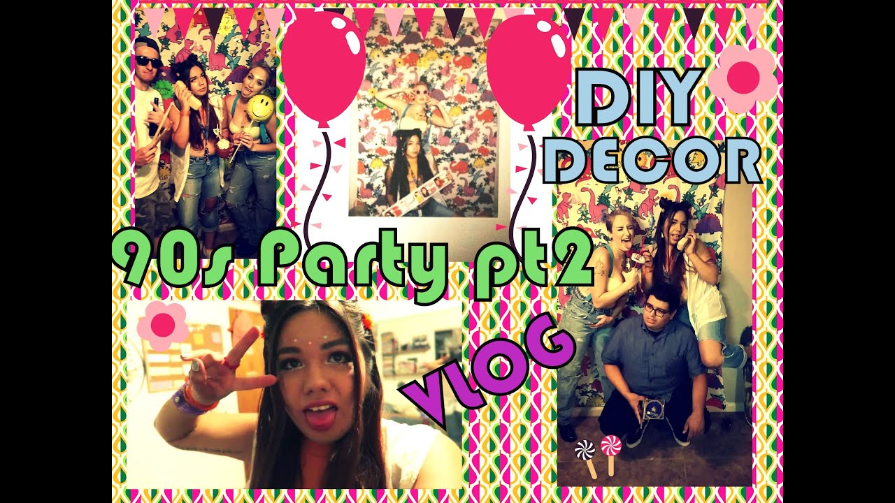 90s bday party vlog pt 2 90s decor face in cake for 90 s party decoration ideas