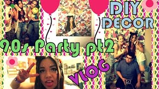 90s bday party vlog pt 2 90s decor face in cake party drama
